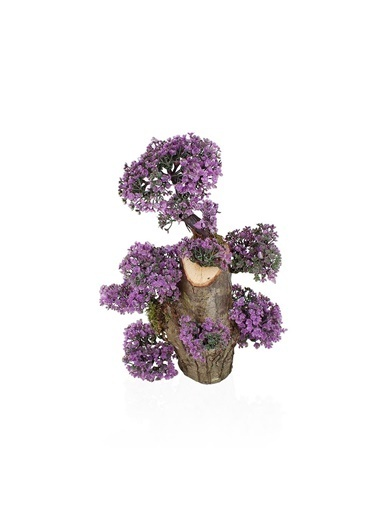 Çiçekmisin Uzun Kütükte Minyatür Yapay Ağaç Mor